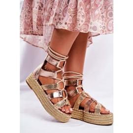 SEA Espadrilles Gold Eromica Women's Sandals On The Platform golden 5