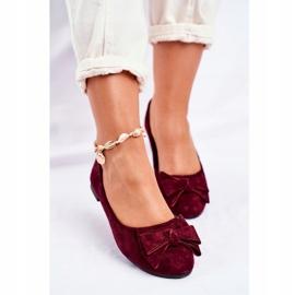SEA Jordos women's ballerina shoes red 4