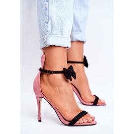 SEA Women's Sandals On High Heel Rabbit Ears Pink Honey Bunny 2