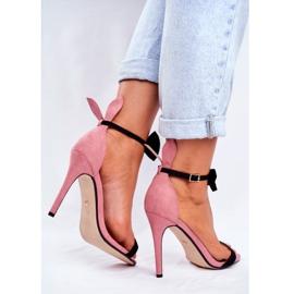 SEA Women's Sandals On High Heel Rabbit Ears Pink Honey Bunny 3