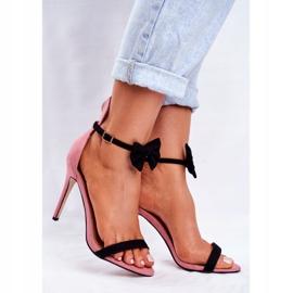 SEA Women's Sandals On High Heel Rabbit Ears Pink Honey Bunny 1