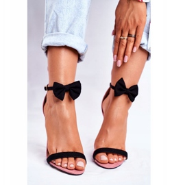 SEA Women's Sandals On High Heel Rabbit Ears Pink Honey Bunny 4
