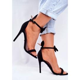 SEA Women's Sandals On High Heel Bunny Ears Black Honey Bunny 3