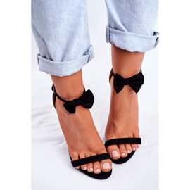 SEA Women's Sandals On High Heel Bunny Ears Black Honey Bunny 4