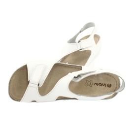 Inblu women's shoes sandals 158D113 white 4