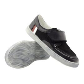 Leather low boots Bartek 28369 navy 4