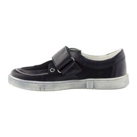 Leather low boots Bartek 28369 navy 3