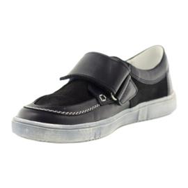 Leather low boots Bartek 28369 navy 2
