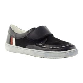 Leather low boots Bartek 28369 navy 1