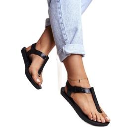 ZAXY Black Fragrant Rubber Sandals DD285039 2