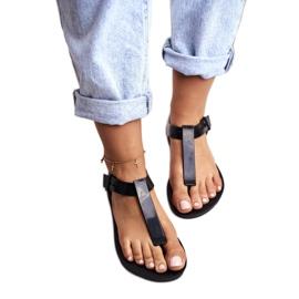 ZAXY Black Fragrant Rubber Sandals DD285039 4