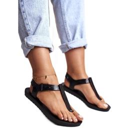 ZAXY Black Fragrant Rubber Sandals DD285039 1