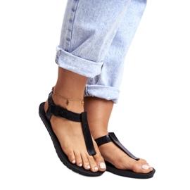 ZAXY Black Fragrant Rubber Sandals DD285039 5
