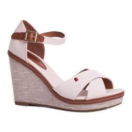 SEA Beige LaMane Women's Wedge Sandals 3