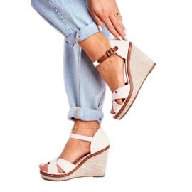 SEA Beige LaMane Women's Wedge Sandals 1