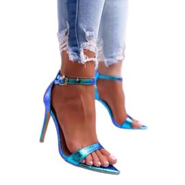 Lu Boo Heels Opal Heels Gasoline Green Debbi multicolored blue 1