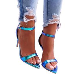 Lu Boo Heels Opal Heels Gasoline Green Debbi multicolored blue 2