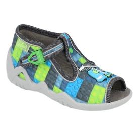 Befado children's shoes 217P104 blue grey green 1