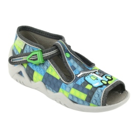 Befado children's shoes 217P104 blue grey green 2