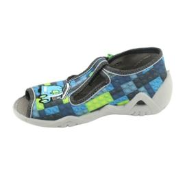 Befado children's shoes 217P104 blue grey green 3