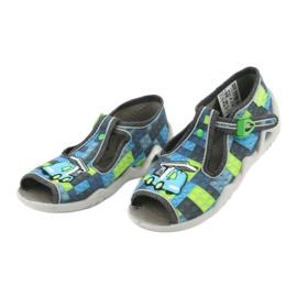 Befado children's shoes 217P104 blue grey green 4