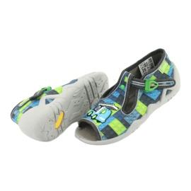 Befado children's shoes 217P104 blue grey green 5