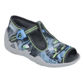 Befado children's shoes 217P102 blue grey green 1