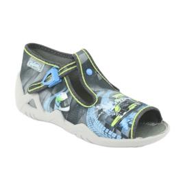 Befado children's shoes 217P102 blue grey green 2