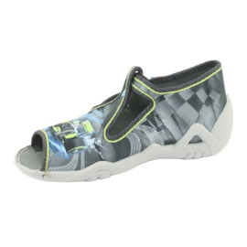 Befado children's shoes 217P102 blue grey green 3