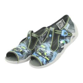 Befado children's shoes 217P102 blue grey green 4
