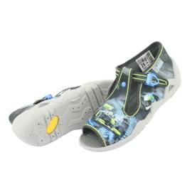 Befado children's shoes 217P102 blue grey green 6