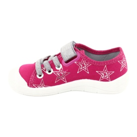 Slippers girls' sneakers with stars Befado 251X096 pink grey 2