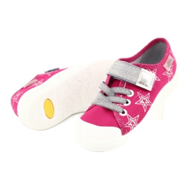 Slippers girls' sneakers with stars Befado 251X096 pink grey 4