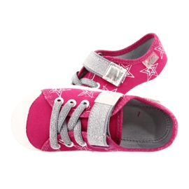 Slippers girls' sneakers with stars Befado 251X096 pink grey 5