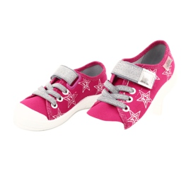 Slippers girls' sneakers with stars Befado 251X096 pink grey 3