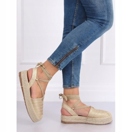 Women's espadrilles gold sandals TU139P Gold golden 1