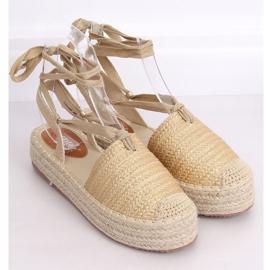 Women's espadrilles gold sandals TU139P Gold golden 3