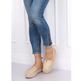 Women's espadrilles gold sandals TU139P Gold golden 2