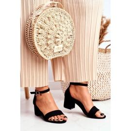 BUGO Women's Suede Black Sandals Oh Baby! 1