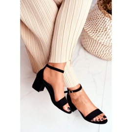 BUGO Women's Suede Black Sandals Oh Baby! 4