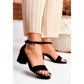 BUGO Women's Suede Black Sandals Oh Baby! 3
