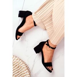 BUGO Women's Suede Black Sandals Oh Baby! 5