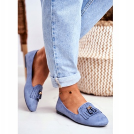 BUGO Women's Loafers Blue Lords Fringes Therese 2