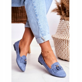 BUGO Women's Loafers Blue Lords Fringes Therese 3