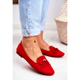 BUGO Women's Loafers Red Lords Fringes Therese 2
