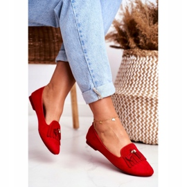 BUGO Women's Loafers Red Lords Fringes Therese 3