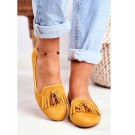 BUGO Women's Loafers Yellow Lords Fringes Therese 2