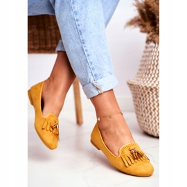 BUGO Women's Loafers Yellow Lords Fringes Therese 3