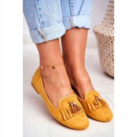 BUGO Women's Loafers Yellow Lords Fringes Therese 4