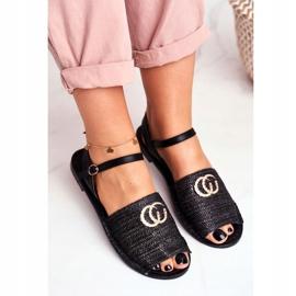Black Women's Flat Sandals Lu Boo Braided Felicia 4